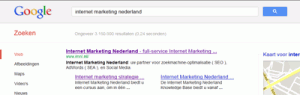 internet-marketing-nederland-google-resultaat